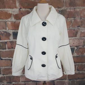 Soia & Kyo Rain Jacket White Black XL Pockets
